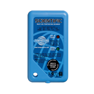 Temprecord Scientific Temperature data logger dry ice. Data logger display screens. Data logger used with Rate of cooling statistics in Medical, Pharmaceutical, Food processing, Abattoir and logistics.